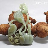 和田玉巧雕 一路登科 摆件 玉质熟润 透雕工艺 收藏佳品