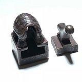 明代 铜制 乌龟 套印 地方印 手工 雕刻