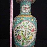 大明康熙年制手工绘五彩花瓶