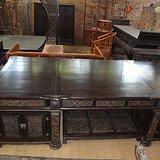 清代传世小叶紫檀大写字台雕龙办公桌厅堂书房