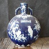 老蓝釉瓶子