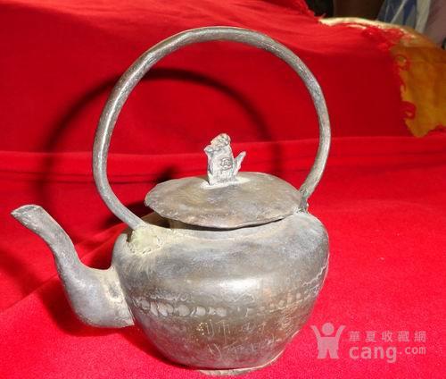 锡猴献寿桃一一银锡酒壶 近1斤重 !