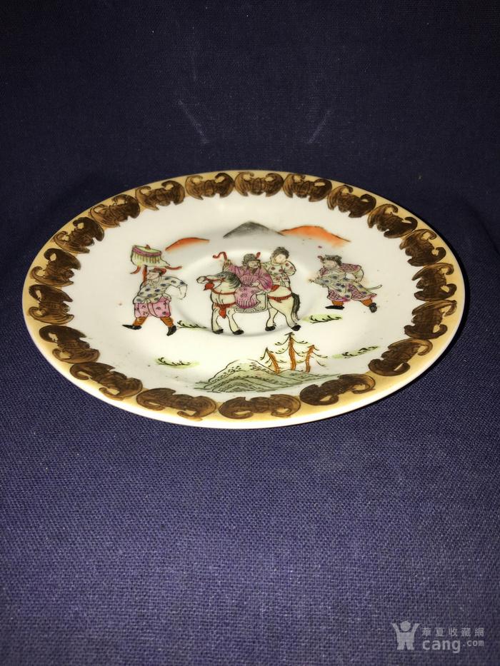 五彩粉彩人物瓷盘