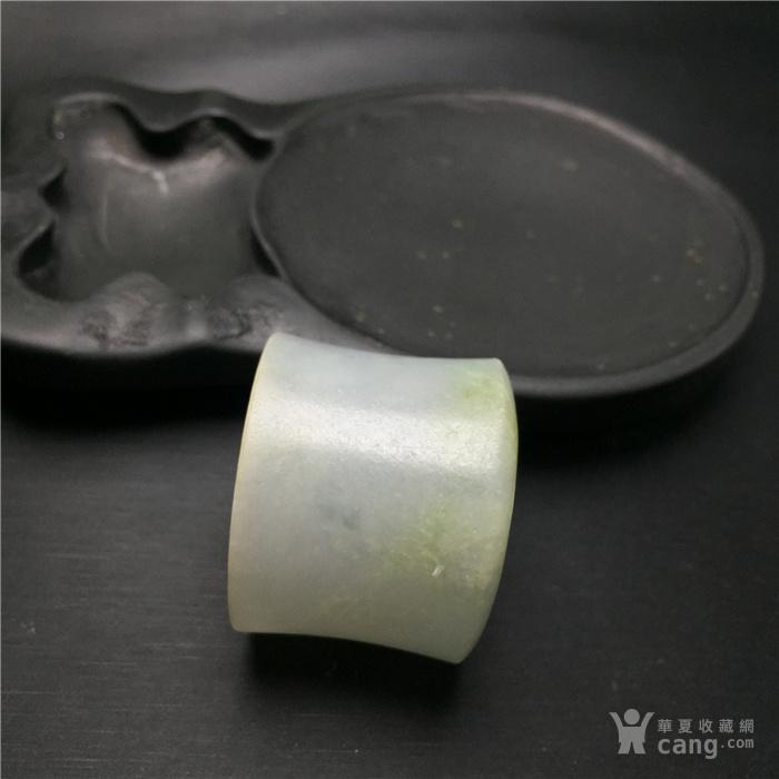 玉泉文玩a466大开门老包浆清代糯冰种翡翠扳指