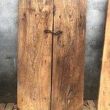 老榆木品相一流,花纹漂亮,独板一对