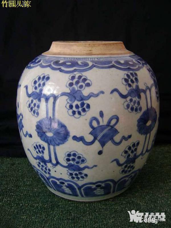 清雍正:全品细路青花 杂宝纹 大罐