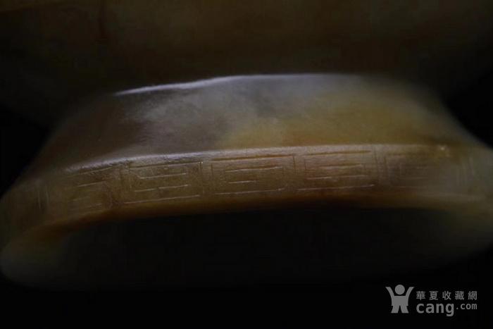 回流 旧藏和田玉籽料 璃龙饕餮乳丁纹吊瓶 图9