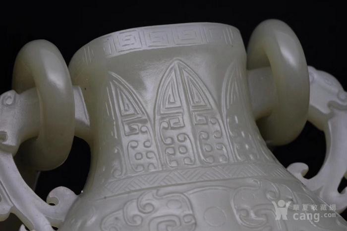 回流 旧藏和田玉籽料 璃龙饕餮乳丁纹吊瓶 图8