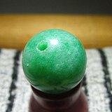 晚清 满绿 冰糯种 翡翠 单珠 种水上乘 包浆老道