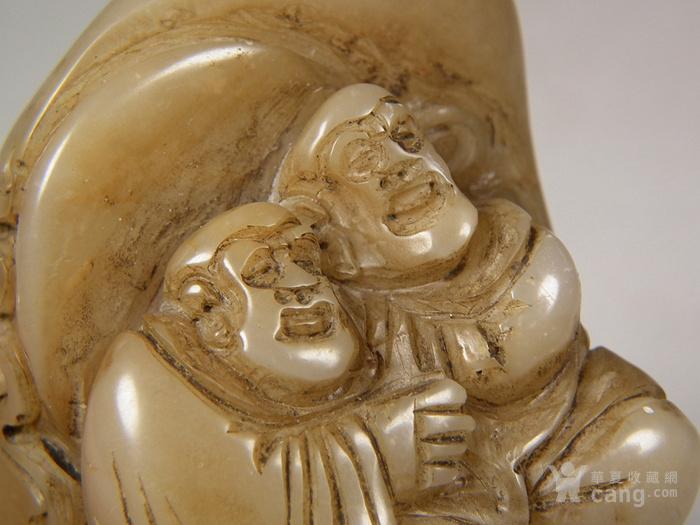 老寿山石高浮雕双高僧大方印章图7
