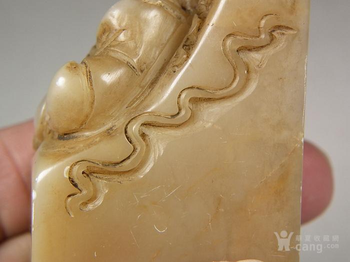 老寿山石高浮雕双高僧大方印章图10