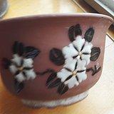 八九十年代紫砂花卉纹花盆