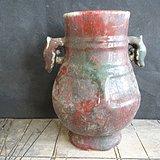 老红釉瓶子