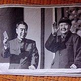 主席和总理的天安门城楼上的阅兵织锦
