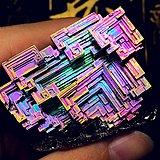 8周年福利!超低6元克价稀有彩虹铋晶体高品质纯铋金属原石摆件