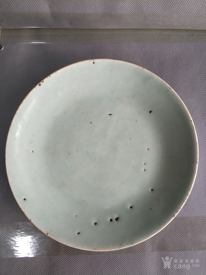 清代豆青釉大盘
