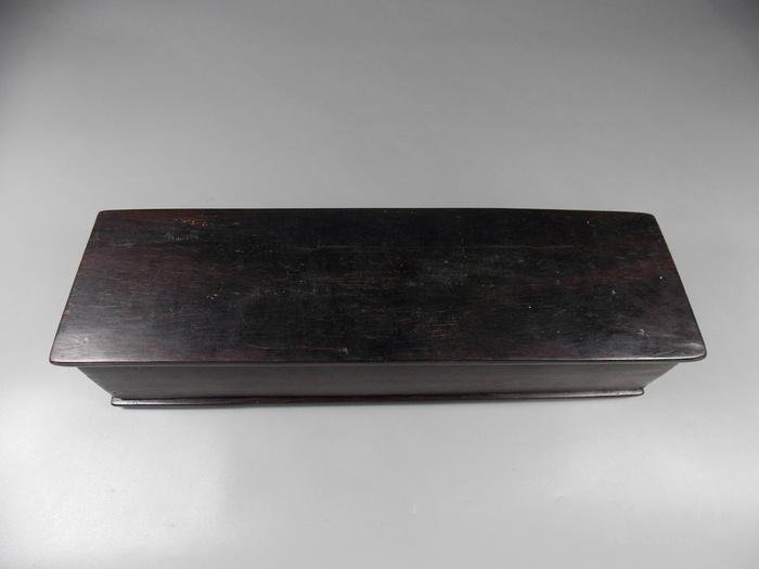 民国红木整挖画盒