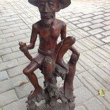 老渔民木雕
