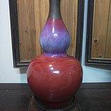 清代红釉大葫芦瓶