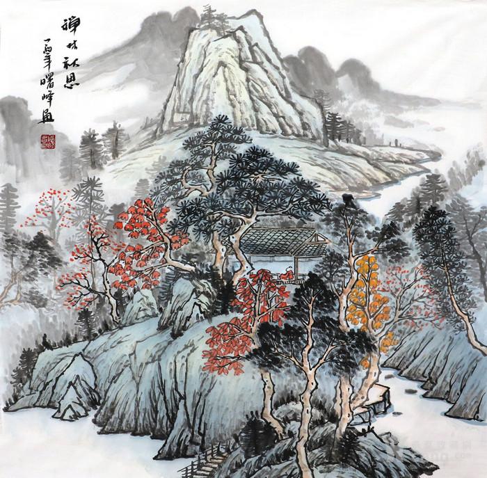 李曙峰纯手绘国画山水字画收藏四尺斗方传统山水字画