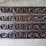 非常精美红酸枝雕刻板一套