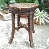 苏作清代老榉木圆凳