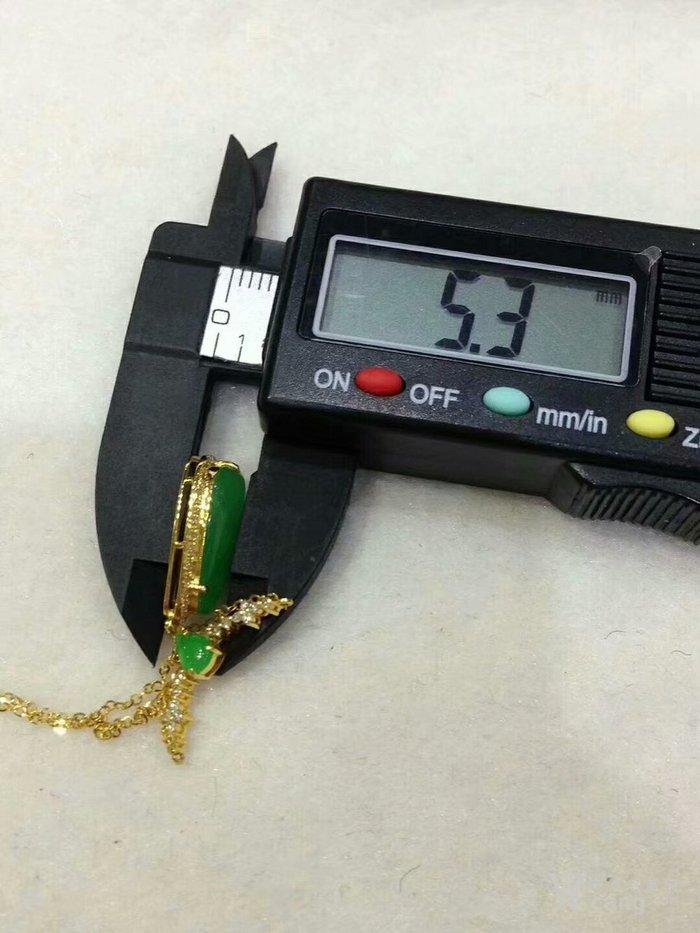 天然缅甸翡翠包金随形锁骨链