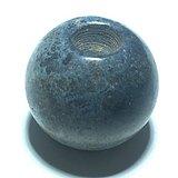 藏传 清代 陨铁 单珠 手工打磨制作 包浆 自然 有磁性