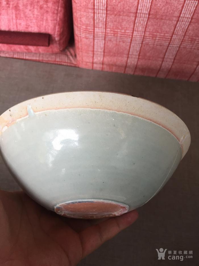 元代湖田窑水波双鱼纹碗