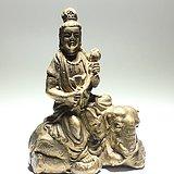 民国 文殊菩萨 铜像 手工錾刻 工艺精美 造型端庄典雅