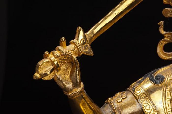 铜鎏金文殊菩萨坐像