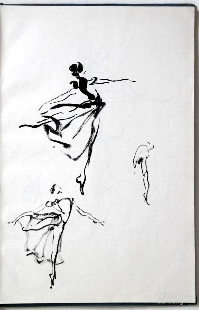 岭南画派 杨之光《人物画速写手绘老画稿原稿1本20张》.
