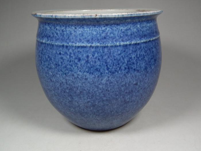 老蓝色窑变釉文房大圆笔洗