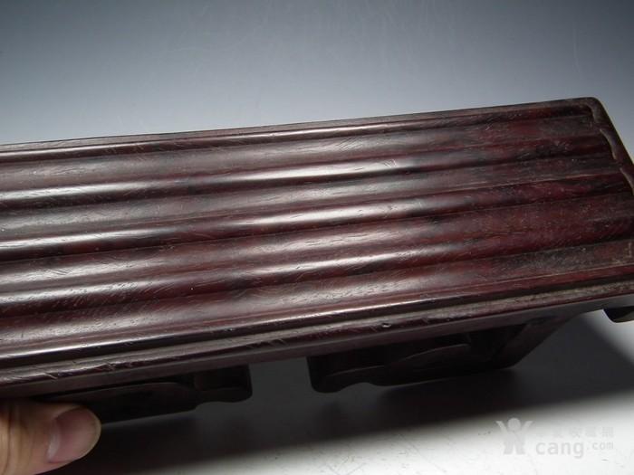 老酸枝红木镂空云纹文房小桌案图2