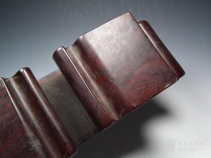 老酸枝红木镂空云纹文房小桌案图5