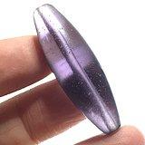 情代 紫罗兰色 水晶 橄榄珠 一枚 包浆自然