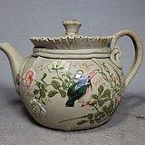 九谷时期花鸟绘画套筒壶