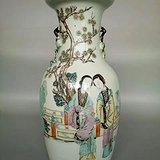 光绪大名家方家珍作150件美人芭蕉瓶