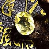 清仓福利特价!天然巴西黄水晶宝石刻面925纯银镀18K金戒指