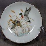 维多利亚时期庐鸭绘画盘