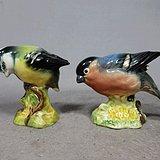 维多利亚时期鸟摆件两个