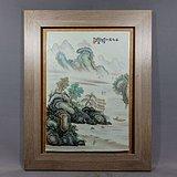 民国张志汤山水绘画瓷板
