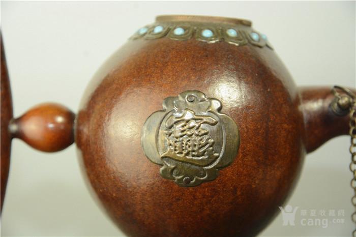 清代装修宝石步骤制房屋酒壶毛坯葫芦镶嵌茶壶图片