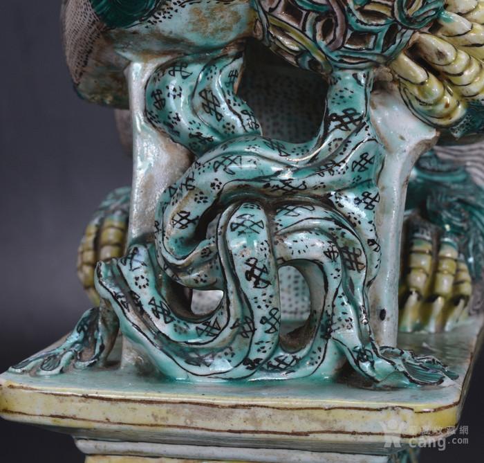 清 素三彩瓷狮图9