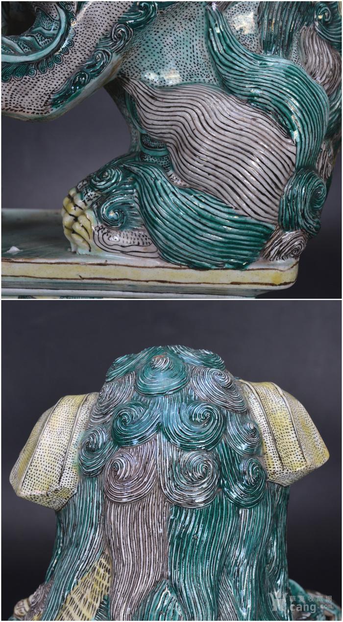 清 素三彩瓷狮图10