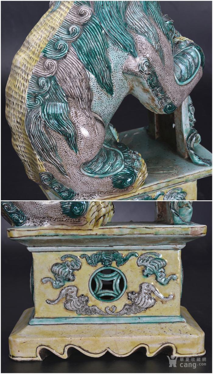 清 素三彩瓷狮图11