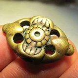 开门到代 清早期 铜质 精工铸造 宝相花 降魔杵