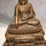 藏传佛合金老西藏祖师像