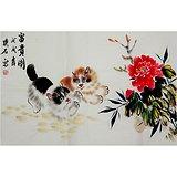 璞石款动物画:富贵图