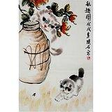璞石款动物画:秋趣图